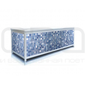 """Screen under the bathtub with a plastic frame ODA """"Classic"""" (blue tile)"""
